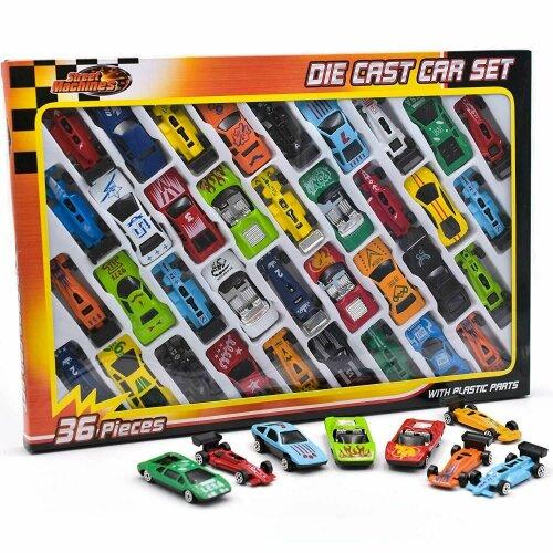 36pc Metal Die Cast Kids Cars Gift Set Xmas F1 Racing Vehicle Children Play Toy