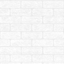 Superfresco Paintable Brick Effect White Wallpaper