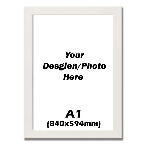 A1 Frame, While Picture Photo Frame, Maxi Art Poster Frame (840x594mm)