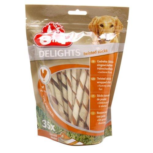 8in1 Dog Delights Twist Sticks Chicken 190g (Pack of 5)