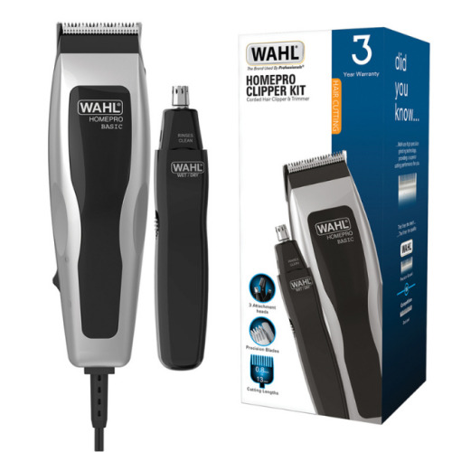 Wahl HomePro Clipper and Trimmer Grooming Kit for Hair & Nose 9159-027