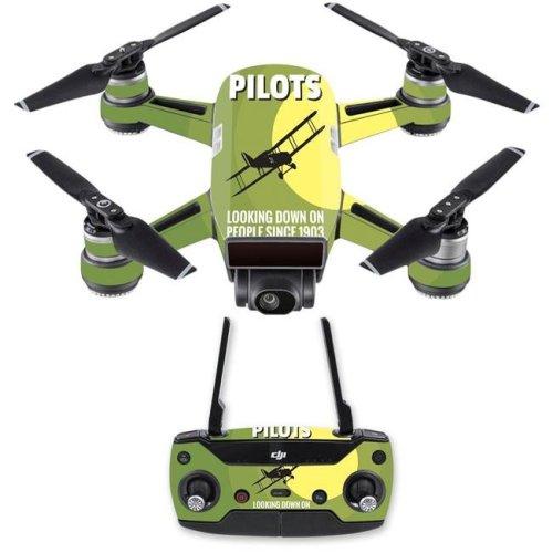 MightySkins DJSPCMB-Pilots Skin Decal Wrap for DJI Spark Mini Drone Combo Sticker - Pilots