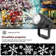 Snowfall LED Light Projector Christmas Snow Light Projection Light with Snowstorm Effect