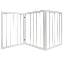 CHERISH - 3 Section Wooden Solid Wood Folding Pet Gate - White