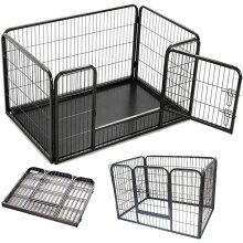 Puppy Play Pen Whelping Dog Cage Crate Fence With Abs Tray