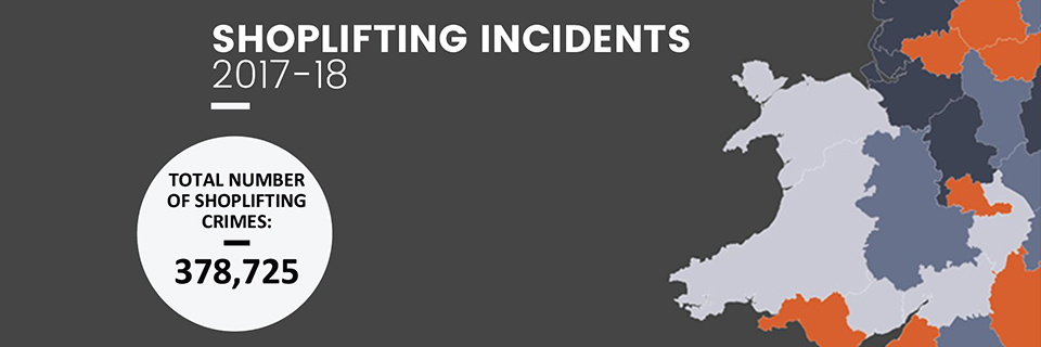 Shoplifting Incidents in England and Wales 2017-18