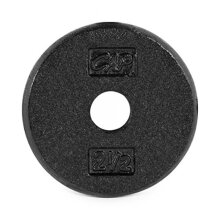 CAP Barbell Standard Free Weight Plate, 1-Inch, 2.5-Pound, Black
