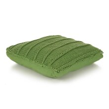 vidaXL Floor Cushion Square Knitted Cotton 60x60cm Green Throw Pillow Cover