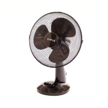 "Oypla Electrical 12"" 3 Speed Oscillating Black Electric Desk Home Office Fan"