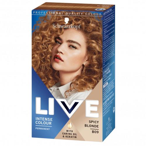 Live Intense Colour Permanent Spicy Blonde B09