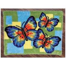 "Latch Hook Rug Kit""Butterflies"" 52x38cm"