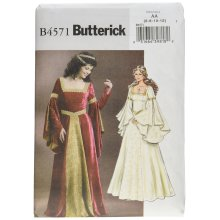 Butterick Patterns B4571 Size AA 6-8-10-12 Misses Costume, Pack of 1, White