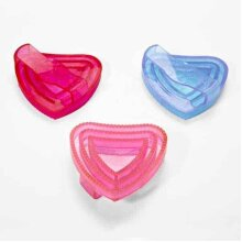 Elico Heart Shaped Glitter Rubber Curry Comb