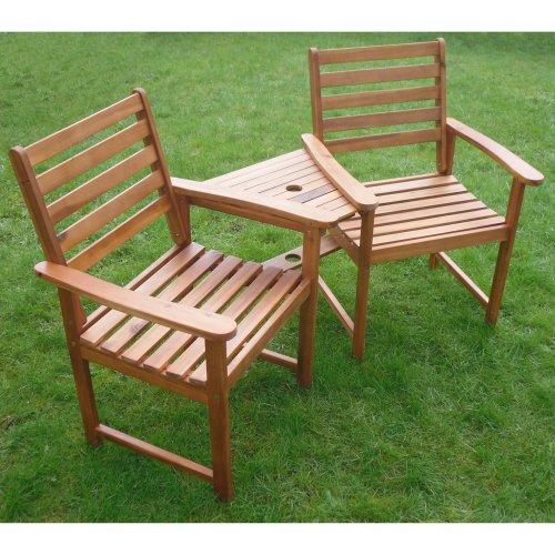 Ascot Companion Corner Bench Set   Wooden Garden Love Seat