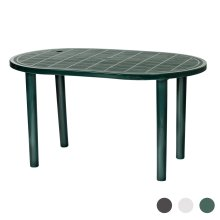 Oval Garden Table Resol Gala Plastic Outdoor Outside Dining 90x140cm Green