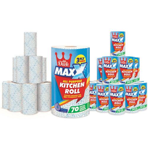 Little Duck Maxx Three-Ply Kitchen Towel Rolls - 12 Rolls