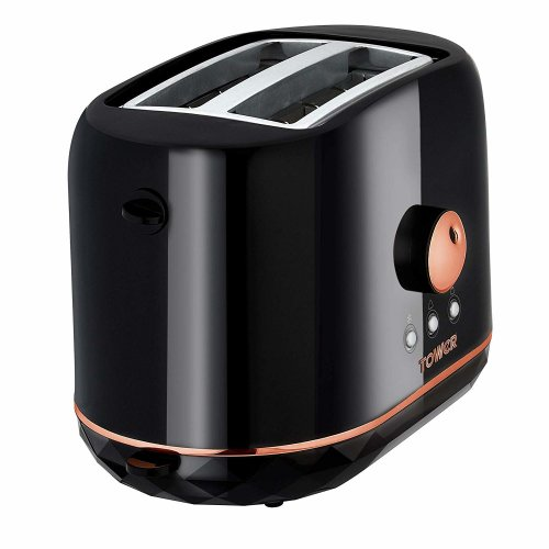 Black and Rose Gold 2 Slice Toaster 870 W,