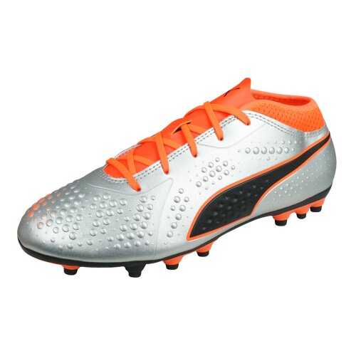 Puma One 4 Synthetic AG Boys Football Boots / Cleats - Silver