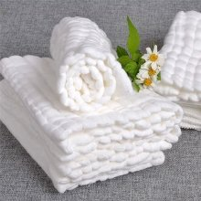 1 Piece Baby Bath Towels 100% Cotton Gauze Solid New Born Baby Towels Ultra Soft Strong Water Absorption Baby Care F20