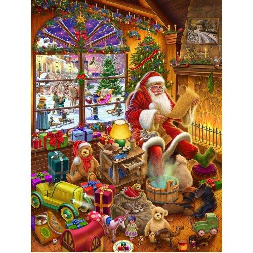 Santa's Christmas List Jigsaw Puzzle By Rudolf Farkas