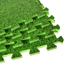Abaseen Eva Interlocking Foam Floor Mats(Green, 8 Mats-(32 Sq Ft))