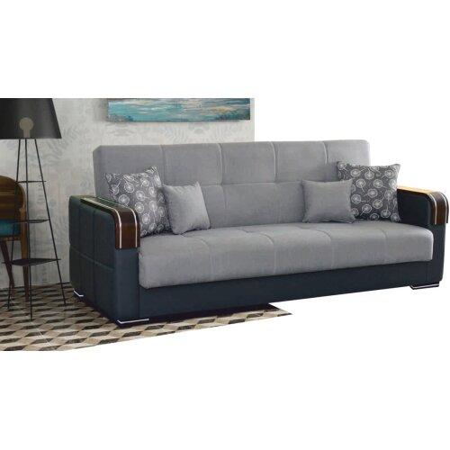 (Grey , 3 seater) Malta Storage Sofa bed