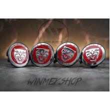 Set of 4 Red Jaguar alloy wheel centre caps hubs badges 59mm