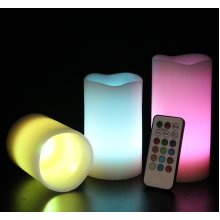 Mooncandles - Wax Candles With Colour Changing Remote Control