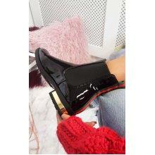 IKRUSH Womens Daina Patent Ankle Boots