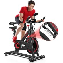 Dripex Indoor Cycling Magnetic Resistance Exercise Bike (2021 Upgraded Version), Ultra-Silent, Heavy Duty Flywheel, Capacity 330 LBS, LCD Monitor