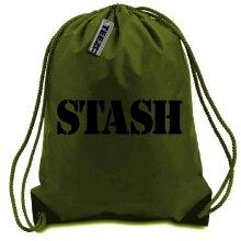 Khaki Stash drawstring bag, Swimming bag, Camping Bag