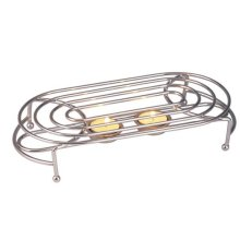 Food Warmer Chrome Double Oval Design Hot Plate Dinner Parties Restraunt