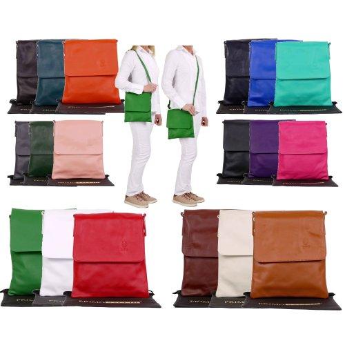 Primo Sacchi Ladies Italian Soft Leather Medium Messenger Cross Body Shoulder Bag Handbag
