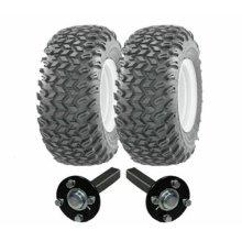 ATV trailer kit - wheels + hub / stub axles, heavy duty 900kg