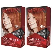 2 x Revlon Colorsilk Beautiful Hair Color, 45 Bright Auburn