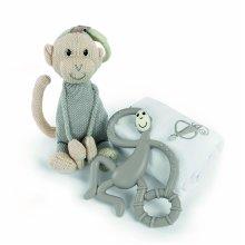 Matchstick Monkey Teething Gift Set, Grey