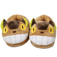 Plush Slippers Cat Bus Hayao Miyazaki Anime Cotton Shoes