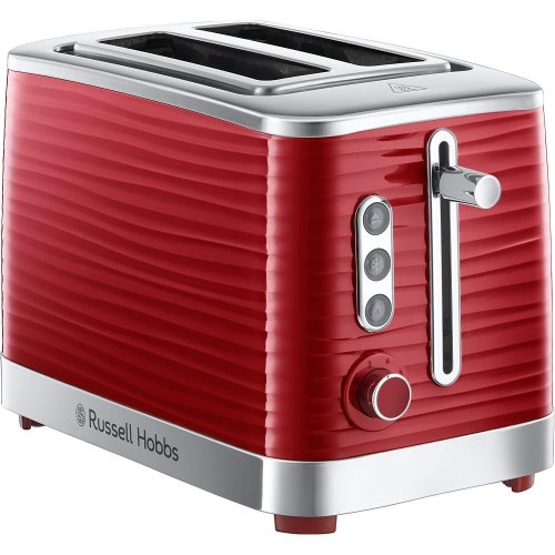 Russell Hobbs Inspire Toaster | Red Electric 2-Slice Toaster