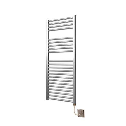 Extra High Heat Output  Chrome Electric Towel Rail 500 x 1200mm Flat Bathroom Radiator Heater