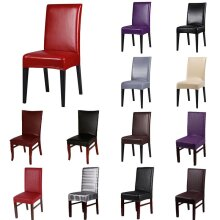 Faux Leather Dining Chair Covers waterproof Cover