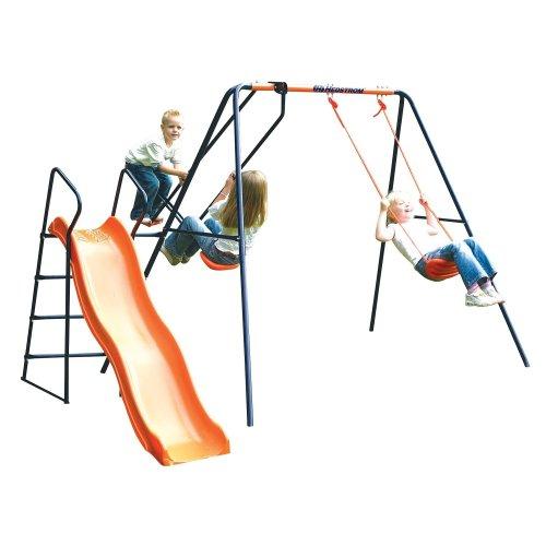 Hedstrom Saturn - Swing, Glider and Slide Set Blue/Orange Ages 3-10 Years