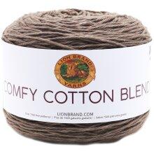 Lion Brand Comfy Cotton Blend Yarn-Mochaccino
