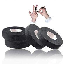 Tusenpy 4 Rolls Finger Tape,Climbing Tape Jiu Jitsu Tape Sports tape for Preventing Sprains and Strains,1.5cm*13.7m (Black)