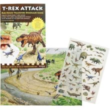 T-Rex Attack - Rub Down Transfers Dinosaur Scene