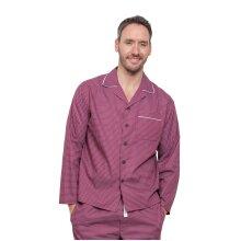Cyberjammies 6282 Men's Austin Red Geometric Pajama Pyjama Top