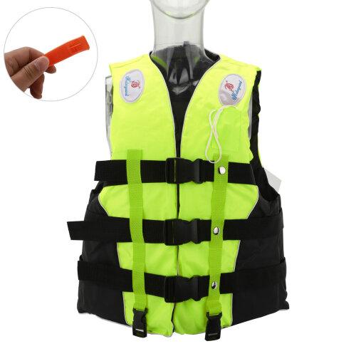 XL Size Watersport Life Jacket (Fluorescent Green)