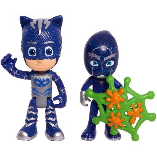 PJ MASKS JP JPL95311 2 Pack Figure Set-Catboy & Night Ninja