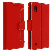 Wallet Folio Case with Stand for Samsung Galaxy A10 - Red