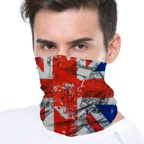(Union Jack) Bandana Face Covering Mask Biker Tube Snood Scarf Neck Cover