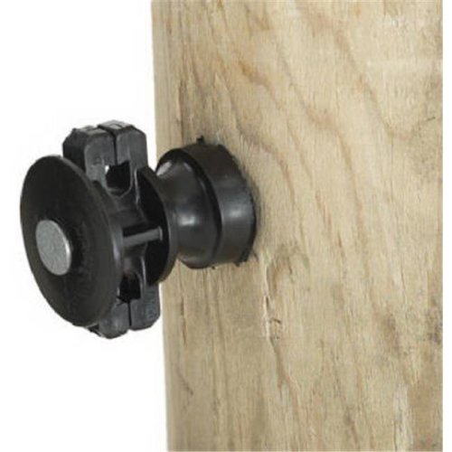 Dare Products ELF-WP-25 Wood Post Insulator, Black, 25 Pack